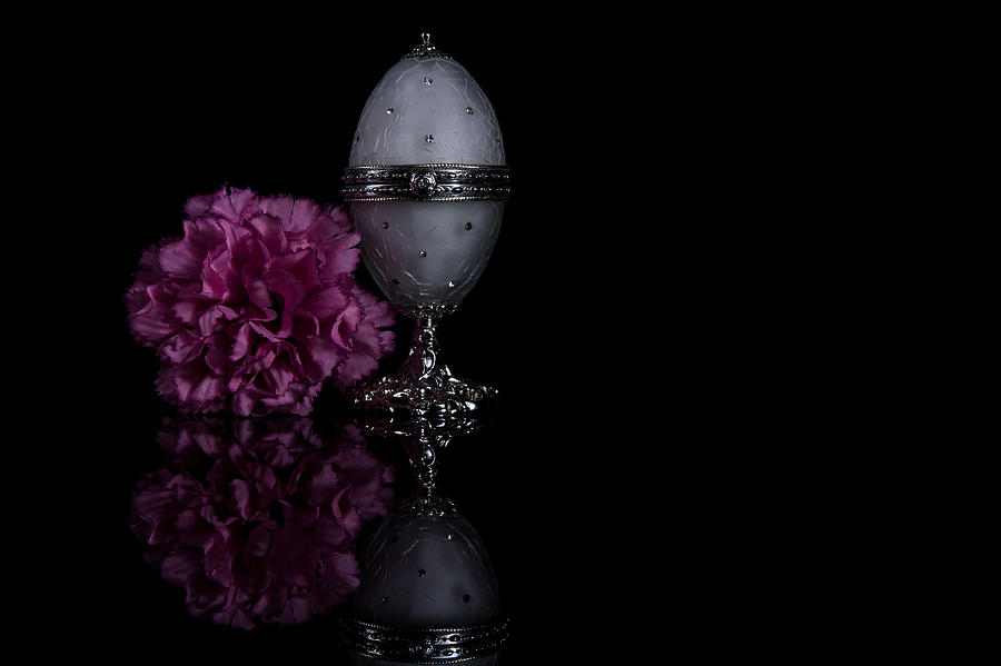 Low-key Photograph - Decorative Jewel Egg by Eje Gustafsson
