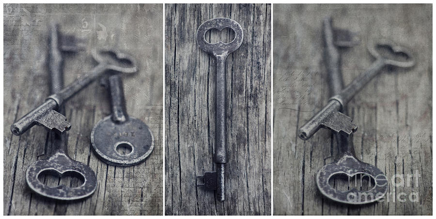 decorative vintage keys II Photograph  - decorative vintage keys II Fine Art Print