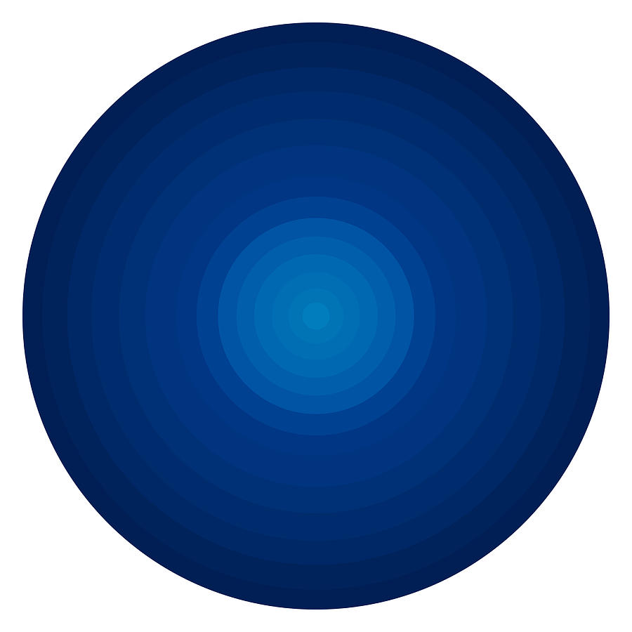 Deep Blue Circles Painting  - Deep Blue Circles Fine Art Print