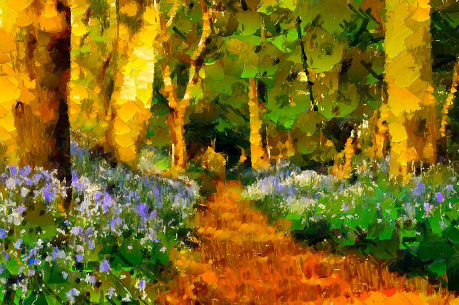 Deep In A Forest Painting  - Deep In A Forest Fine Art Print