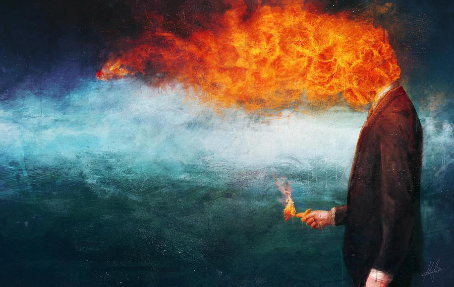 Fire Painting - Deep by Mario Sanchez Nevado