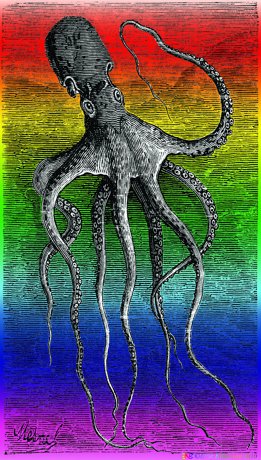 Deep Monster Digital Art  - Deep Monster Fine Art Print