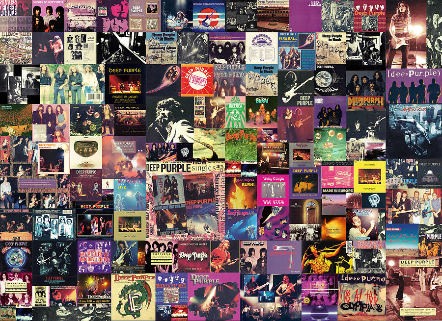 Deep Purple Collage Digital Art  - Deep Purple Collage Fine Art Print