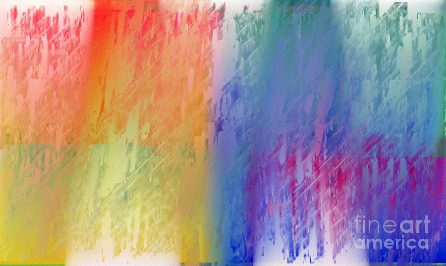 Deep Rich Sherbet Abstract Digital Art