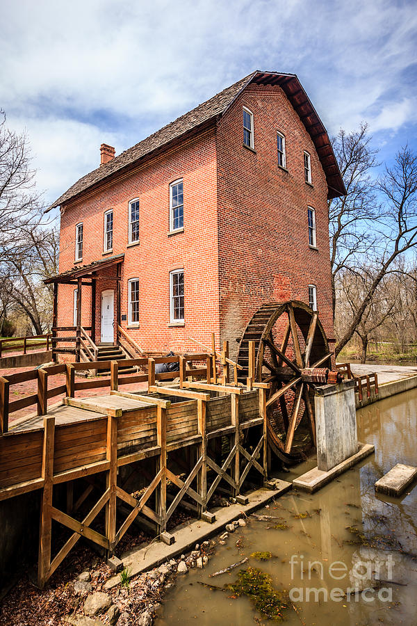 Deep River Grist Mill In Northwest Indiana Photograph  - Deep River Grist Mill In Northwest Indiana Fine Art Print