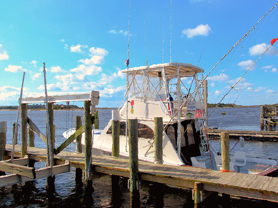 Deep Sea Fishing Boats In Swansboro North Carolina 2 By