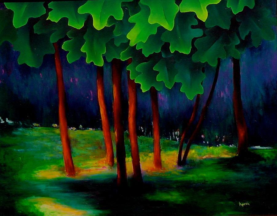 Landscape Painting - Deep Shadows by Karin Eisermann
