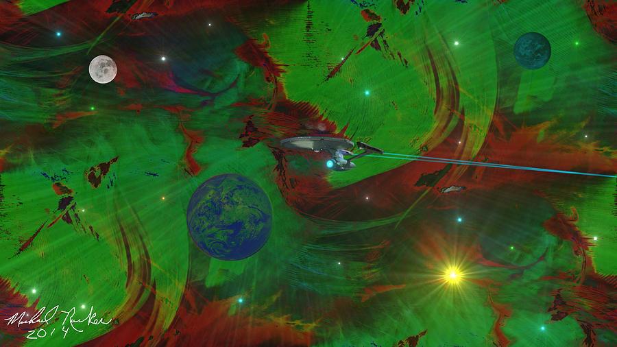 Star Trek Digital Art - Deep Space / Star Trek by Michael Rucker