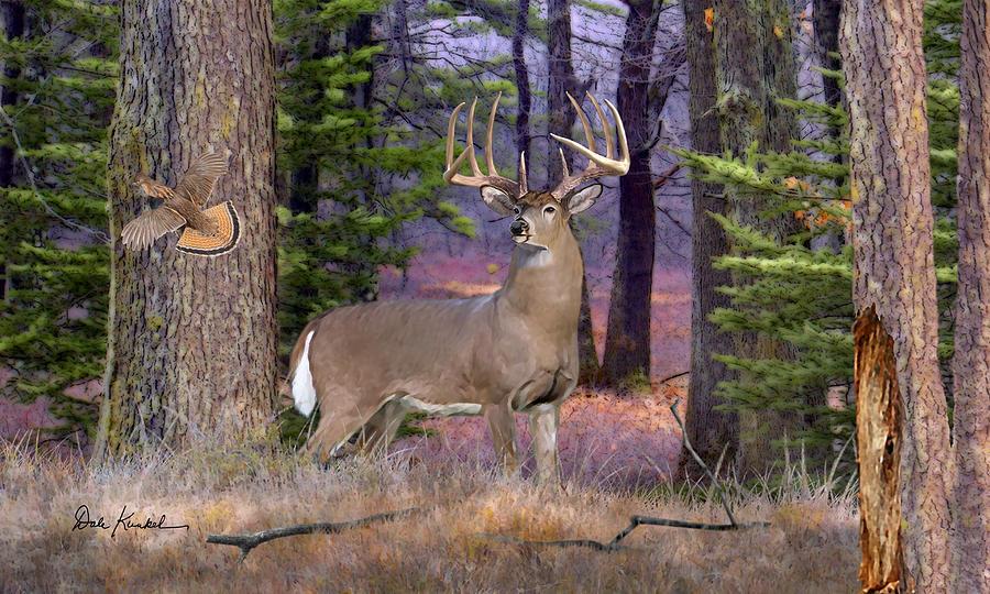 Deer Art - Northwoods Whitetails by Dale Kunkel Art