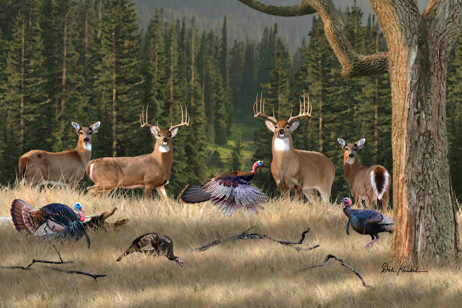 deer-hunting-art-king-of-the-whitetails-fine-art-deer-print-deer ...