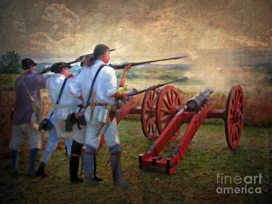 Defending Bemis Heights 1777 Digital Art