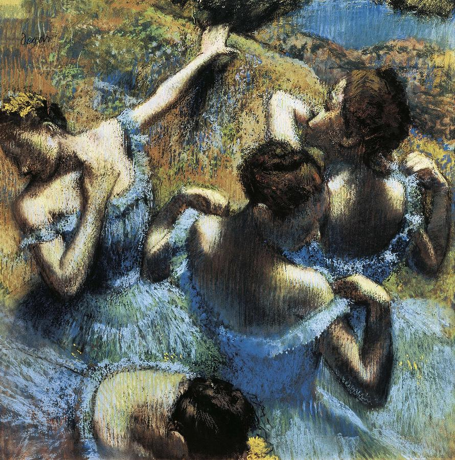 Degas, Edgar 1834-1917. Blue Dancers Photograph  - Degas, Edgar 1834-1917. Blue Dancers Fine Art Print