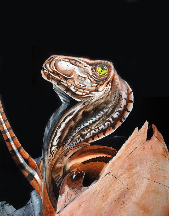 Dinosaur Painting - Deinohatch by Michael McKenzie