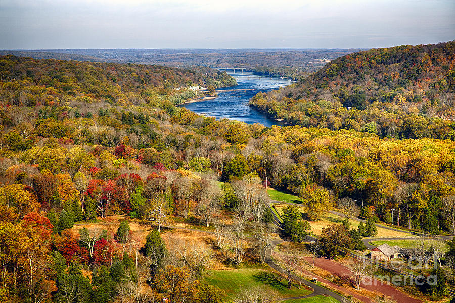 Delaware River Valley Fall Scenic Photograph
