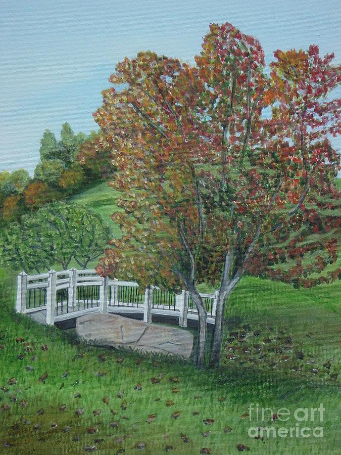 Acrylic Painting - Delfosse Bridge by Gloria Patrick Sumter