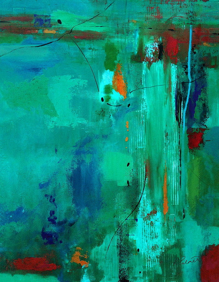 Abstract Painting - Deliver Me by Ruth Palmer