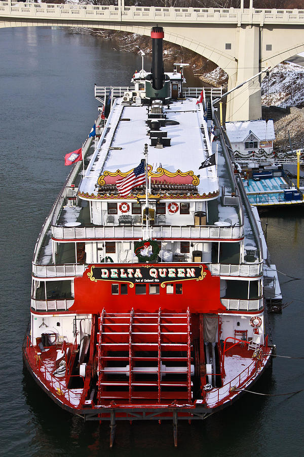 Delta Queen In Christmas Snow Photograph