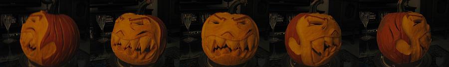 Demented Mister Ullman Pumpkin 3 Sculpture