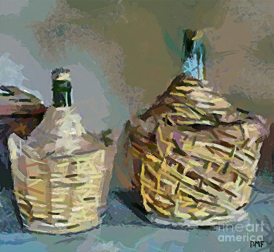 Jugs Painting - Demigiana - Demijohns by Dragica  Micki Fortuna