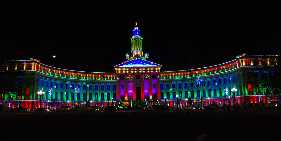 Denver photograph denver civic center at christmas by joe wicks