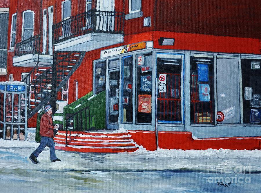 Depanneur 7 Jours Verdun Quebec Painting
