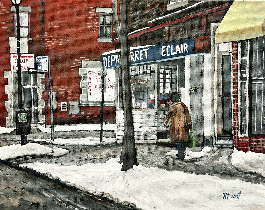 Paintings Painting - Depanneur Arret by Reb Frost