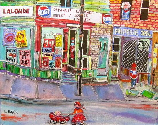 Depanneur Painting - Depanneur Lalonde by Michael Litvack