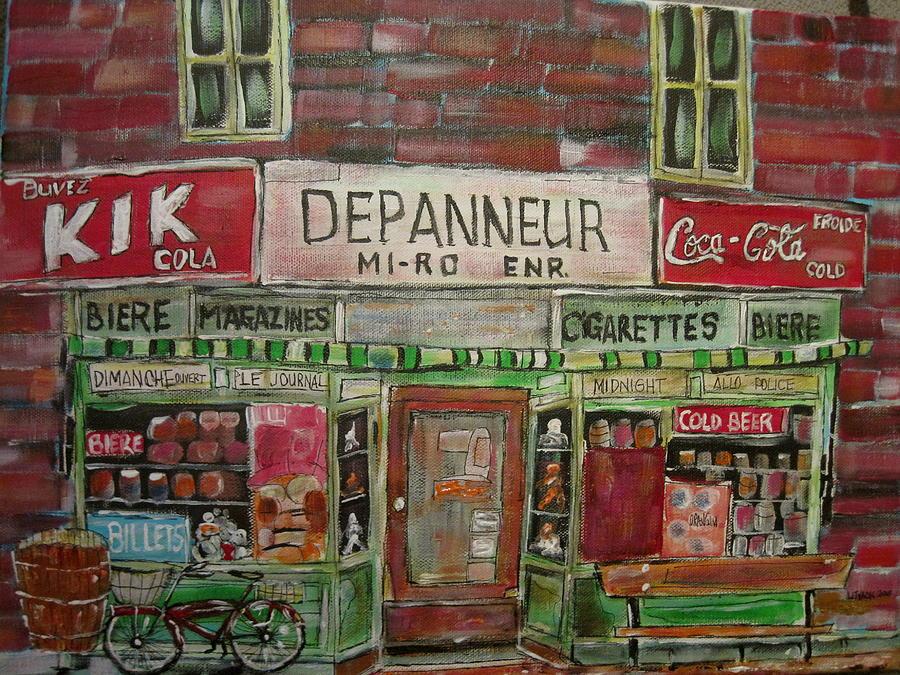 Depanneur Mi-ro Painting by Michael Litvack