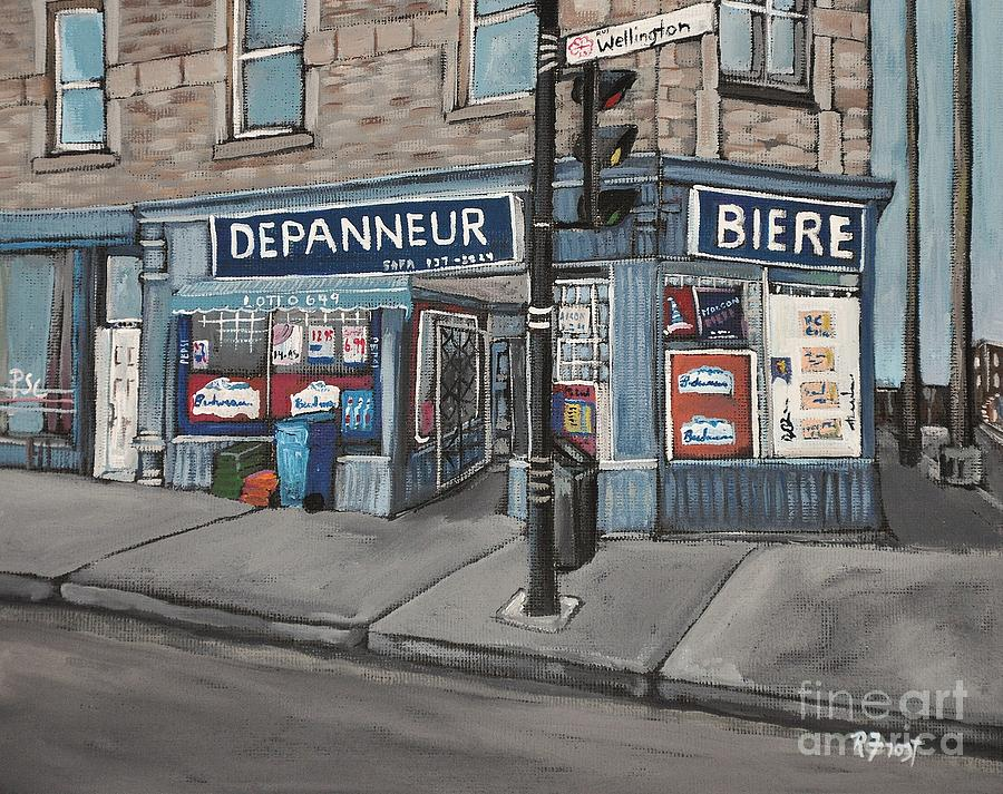 Depanneur Safa Painting - Depanneur Safa Wellington Street  by Reb Frost