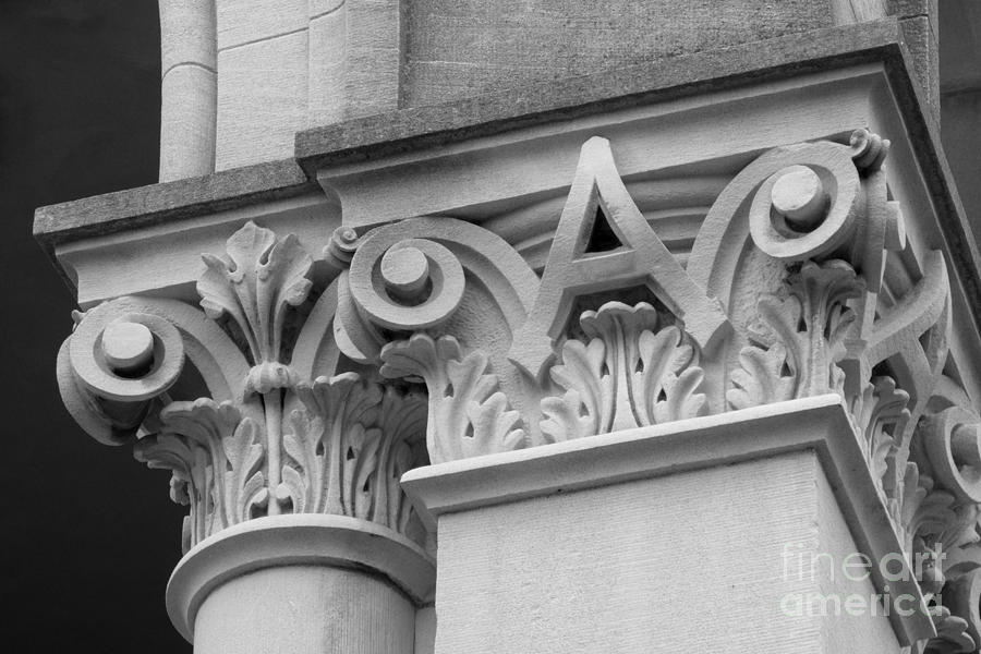 Depauw University East College Detail Photograph