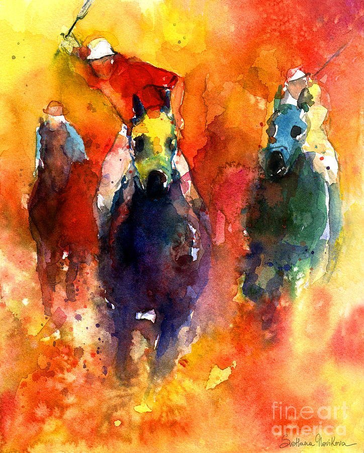 Derby Horse Race Racing Painting