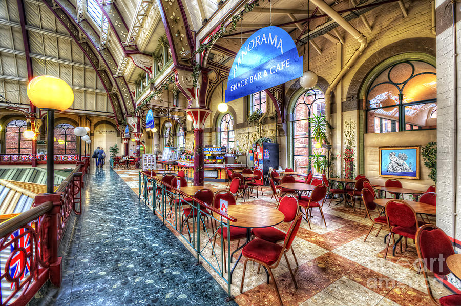 Derby Market Hall Cafe Photograph  - Derby Market Hall Cafe Fine Art Print