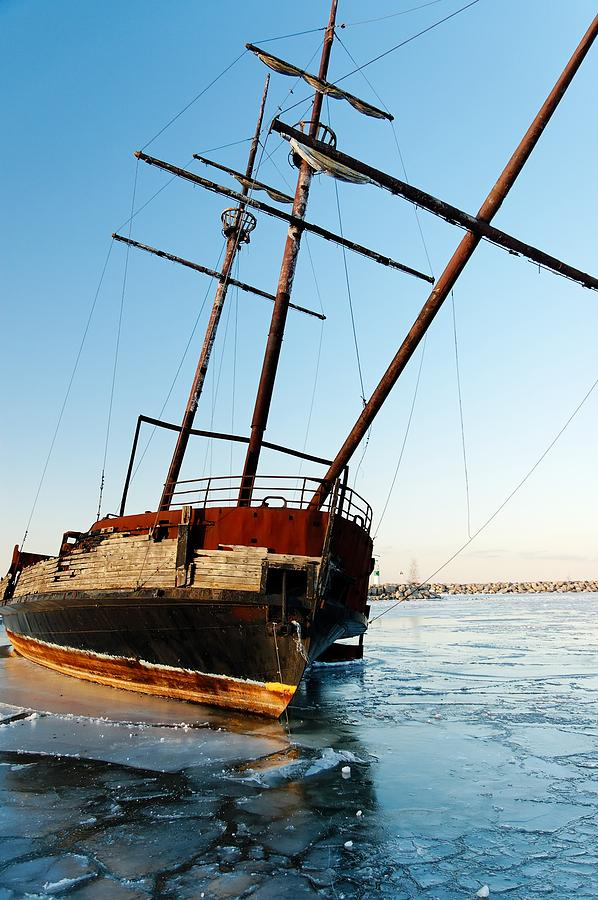 Derelict Faux Tall Ship Photograph