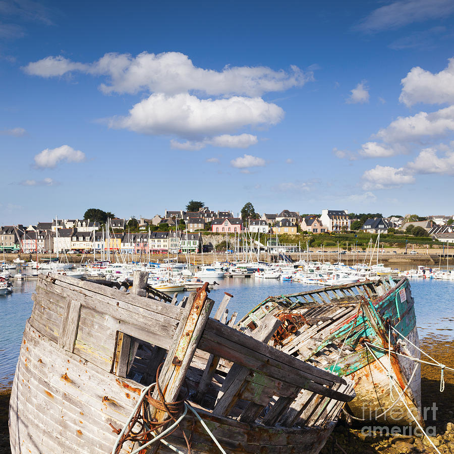Brittany Photograph - Derelict Fishing Boats Camaret Sur Mer Brittany by Colin and Linda McKie