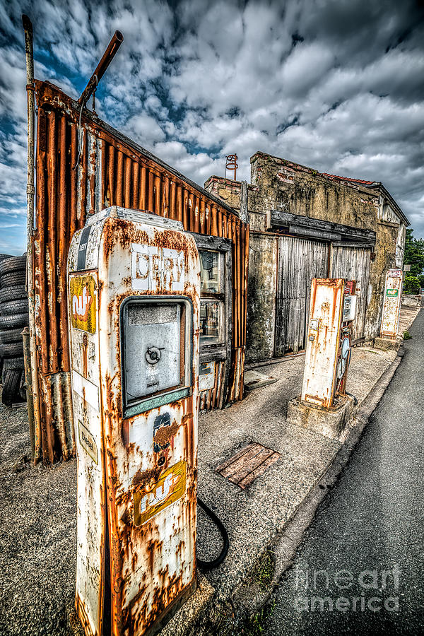 Derelict Gas Station Photograph