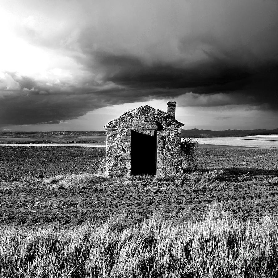 The Photograph - Derelict Stone Shed In  Auvergne. France by Bernard Jaubert
