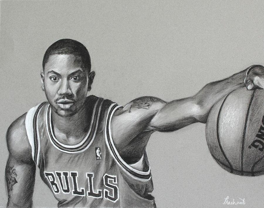 Derrick Rose - Chicago Bulls Drawing