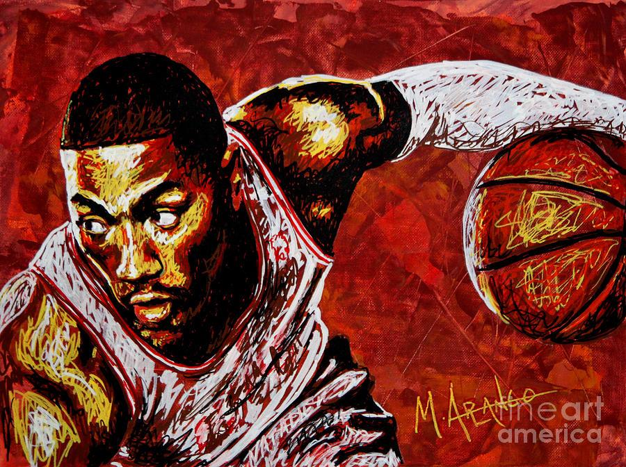 Derrick Rose Painting