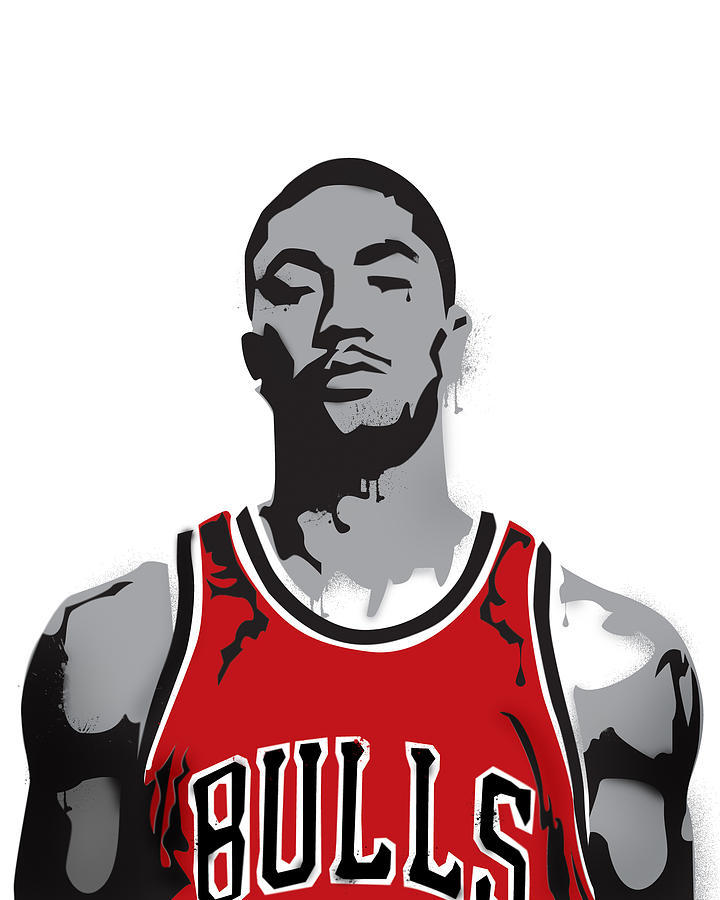 Derrick Rose Digital Art  - Derrick Rose Fine Art Print