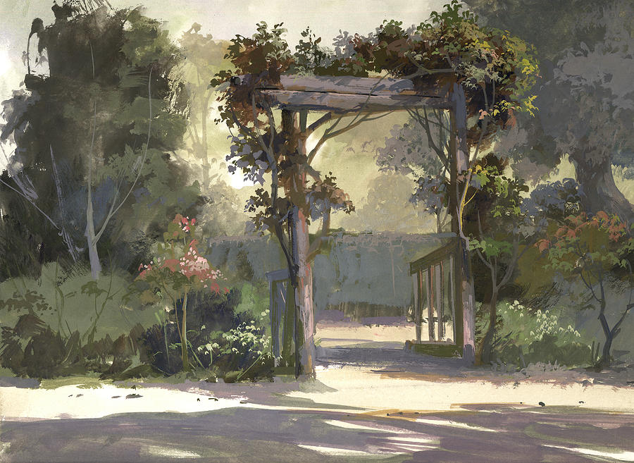 Descanso Gardens Painting