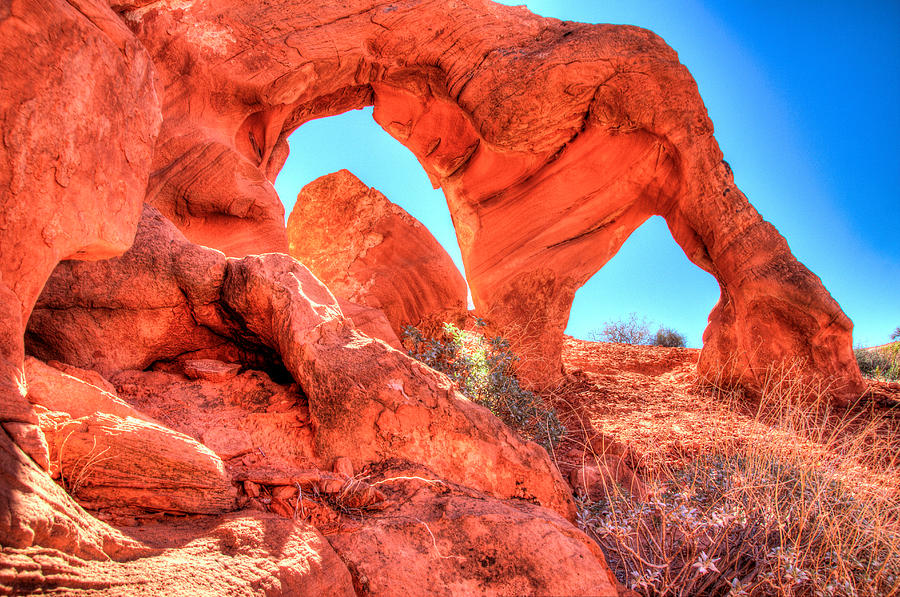 Desert Arch And Sky Photograph  - Desert Arch And Sky Fine Art Print