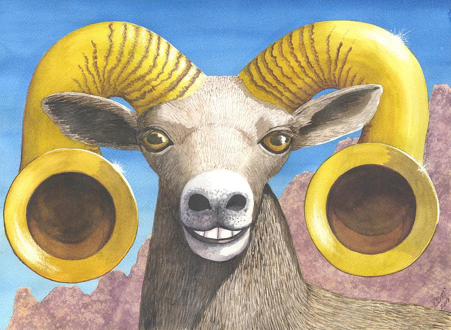 Desert Bighorn Painting