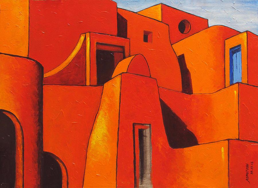 Desert Castle-1 Painting