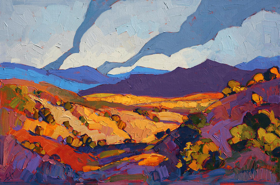 Desert Contrast Painting By Erin Hanson