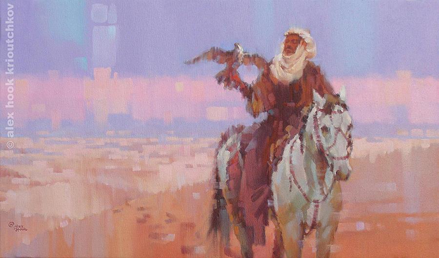 Desert Hunting Painting