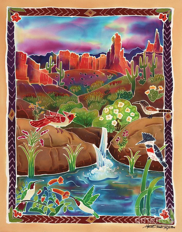 Desert Oasis Painting