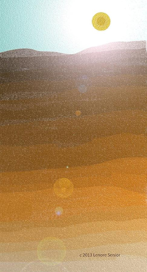 Desert Sun Digital Art
