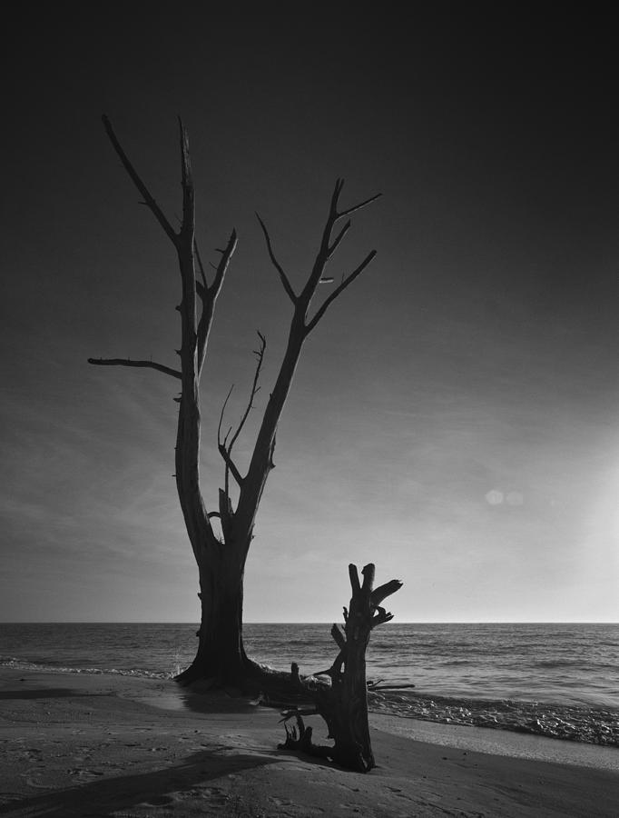 Deserted Beach Sunset Photograph