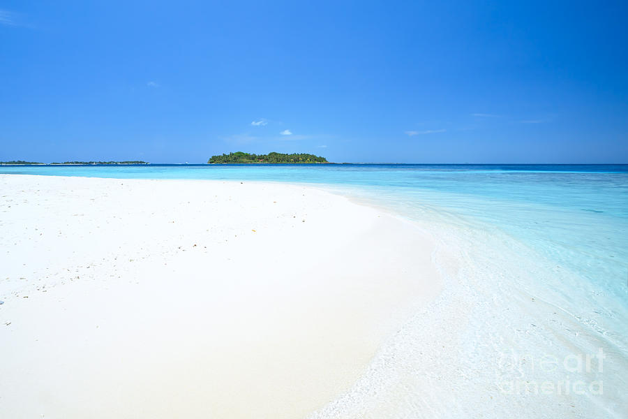 Deserted Tropical Island: Deserted Tropical Beach And Island In The Maldives