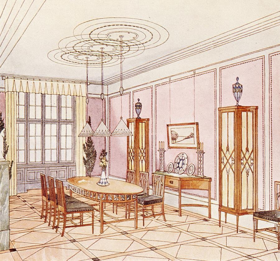 design for a dining room drawing by paul ludwig troost On drawing dining room designs